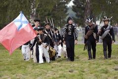 Reconstrucción histórica de la batalla de Borodino en Rusia Reenactors jovenes Fotografía de archivo