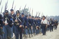 Reconstrucción histórica de la batalla de Manassas, marcando el principio de la guerra civil, Virginia Fotos de archivo