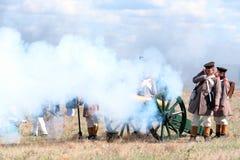 Reconstrucción histórica de la guerra crimea Fotografía de archivo libre de regalías