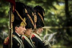 Reconstrucción histórica de las guerras napoleónicas, en Burgos, España, el 12 de junio de 2016 Fotografía de archivo libre de regalías