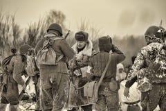 Reconstrucción histórica militar de la Segunda Guerra Mundial Foto de archivo
