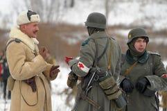 Reconstrucción histórica militar de la Segunda Guerra Mundial Imagen de archivo libre de regalías