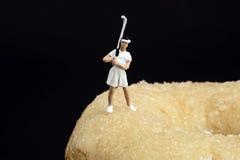 Reconstrucción miniatura de la gente Imagen de archivo libre de regalías