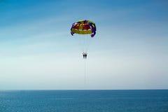Reconstrucción que se lanza en paracaídas Fotos de archivo libres de regalías