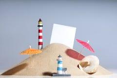 Reconstrucción y playa Fotografía de archivo