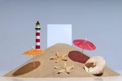 Reconstrucción y playa Imagen de archivo
