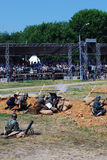 Reconstrucción de la batalla de Nivelle de la máquina de picar carne Foto de archivo