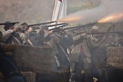 Reconstrucción de la guerra civil de Moorpark Fotos de archivo libres de regalías