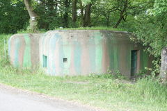 Reconstruct bunker on border between Czech republic and Austria Royalty Free Stock Photos