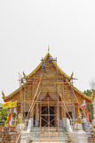 Reconstruct temple chiangmai isolated background Royalty Free Stock Image