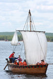 Reconstructed ancient boat Stock Images