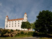 Reconstructed Bratislava Castle - Slovakia Royalty Free Stock Images