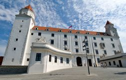 Reconstructed Bratislava Castle - Slovakia Royalty Free Stock Photography