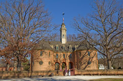 The reconstructed Capitol Building in Colonial Williamsburg, Vir Stock Photos