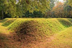 Reconstructed Earthen Fort Stock Photography