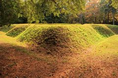 Reconstructed Earthen Fort Royalty Free Stock Photos