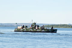 Reconstructed by enthusiasts from Togliatti warship during the second world war Stock Photography