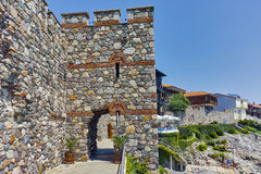 A reconstructed gate part of Sozopol ancient fortifications Royalty Free Stock Image