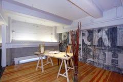 Reconstructed mezzanine office. Stock Photos