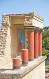 Reconstructed Palace at Knossos, Crete. Royalty Free Stock Photos