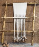 Reconstructed prehistoric age weaving loom Royalty Free Stock Photo