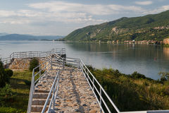 Reconstructed Roman camp near Bay of bones on Ohrid lake Royalty Free Stock Photography