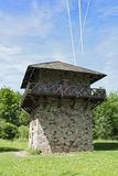 Reconstructed roman limes and watchtower near former castle Zugmantel Stock Photography