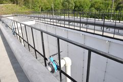 Reconstructed sewage treatment plants stock photography