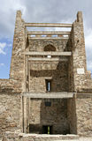 The reconstructed stony tower in the medieval Genoese fortress. Stock Image