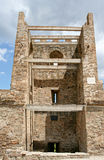 The reconstructed stony tower in the medieval Genoese fortress Royalty Free Stock Photos