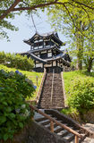Reconstructed tower of Takada Castle in Joetsu, Japan Stock Photo