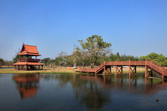 Reconstructed traditional Thai style buildings Stock Photos