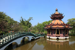 Reconstructed traditional Thai style buildings Royalty Free Stock Images