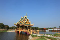 Reconstructed traditional Thai style buildings Stock Photography