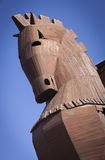 Reconstructed Trojan Horse at Troy in Turkey Royalty Free Stock Images