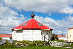 Reconstruction of the ancient lighthouse of Ushuaia Argentina Royalty Free Stock Images