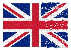Reconstruction Angleterre - image de concept dans la forme de puzzle Photos libres de droits