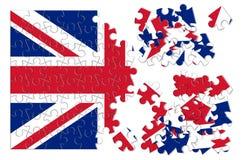Reconstruction Angleterre - image de concept dans la forme de puzzle Photos stock