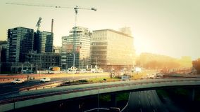Reconstruction area, building site Royalty Free Stock Photos