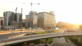 Reconstruction area, building site stock video footage