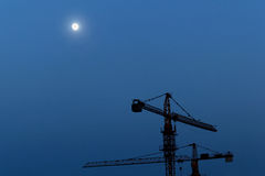 Reconstruction area at night Royalty Free Stock Photography