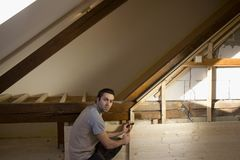 Reconstruction of the attic royalty free stock image