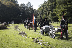 Reconstruction of the battle of Berchem Royalty Free Stock Images