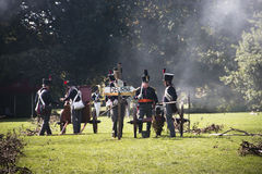 Reconstruction of the battle of Berchem Royalty Free Stock Photography