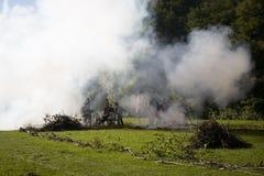 Reconstruction of the battle of Berchem Stock Images