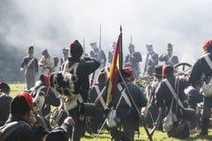 Reconstruction of the battle of Berchem Stock Photos