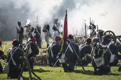 Reconstruction of the battle of Berchem Royalty Free Stock Photos