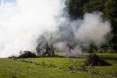Reconstruction of the battle of Berchem Stock Images
