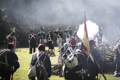 Reconstruction of the battle of Berchem Stock Photo