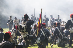 Reconstruction of the battle of Berchem Stock Photos
